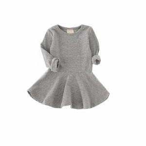 Basic jurk grijs