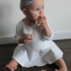 Basic jurk wit