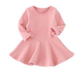 Basic jurk roze