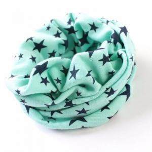 Mintgroene sjaal sterren