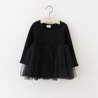 Zwarte tule jurk