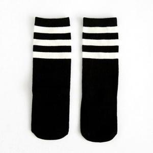 zwart wit gestreepte kniekousen