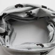 Grijze sjaal black birds