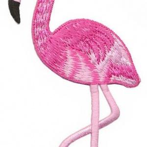 strijkapplicatie flamingo