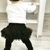 happy customer - Zwarte mini baby tutu