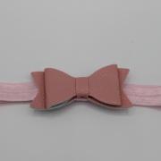 Roze haarbandje zalmroze XL strik