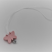 Kinderketting pink butterfly