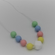 Kinderketting rainbow silliconen kralen
