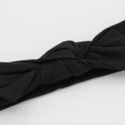 Zwarte wrap haarband