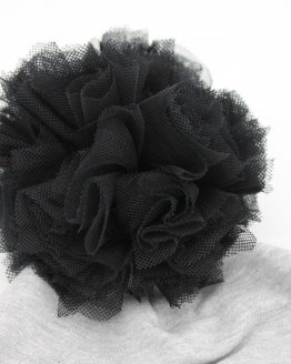 Muts black pompom grey