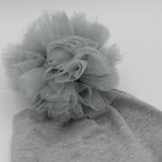 Muts pompom grey
