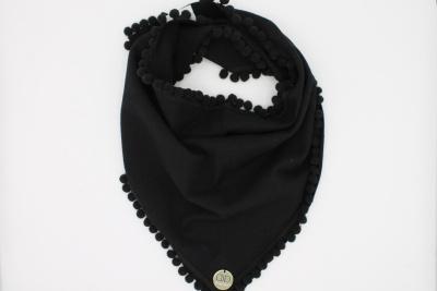 Zwarte bolletjes sjaal