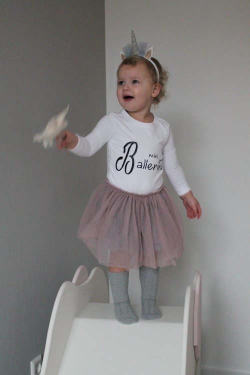 Bedrukt shirt mini ballerina