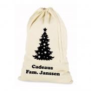 Cadeauzak kerst met naam