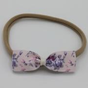 Nylon haarbandje bloemenstrik