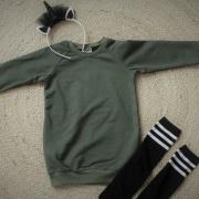 Sweater dress khaki