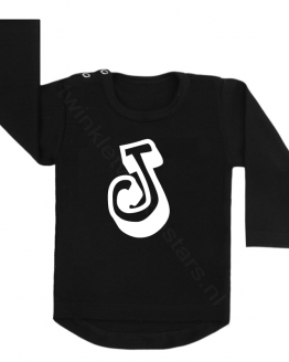 Longsleeve zwart letter J choose