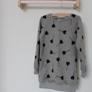Sweater dress grijs hearts