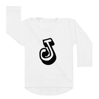 Longsleeve wit letter J choose