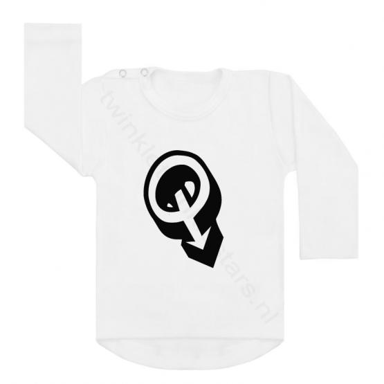 Longsleeve wit letter Q choose
