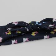 Wrap haarband unicorn donkerblauw