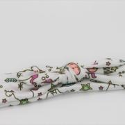 Wrap haarband unicorn wit