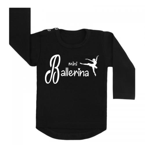 Longsleeve zwart mini ballerina