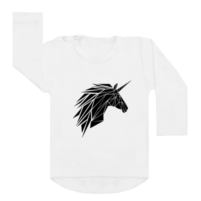 Longsleeve Wit Unicorn