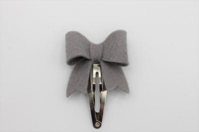 Haarspeldje sierlijke strik grijs