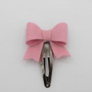 Haarspeldje sierlijke strik roze