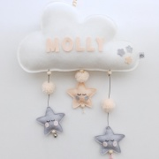 Naam mobile peach pompoms