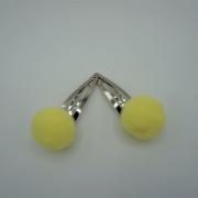 Setje haarspeldjes gele pompoms