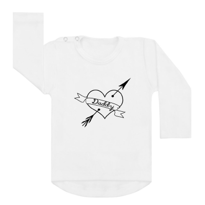 Shirt Daddy Heart wit