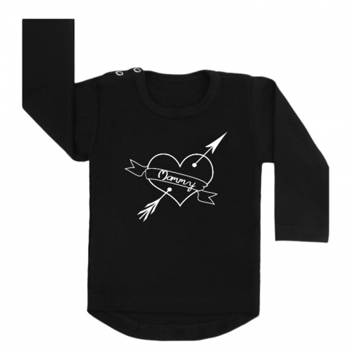 Shirt Mommy Heart zwart