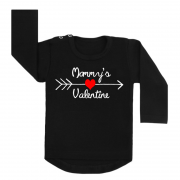 Shirt Mommy's Valentine zwart
