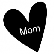 Strijkapplicatie mom heart