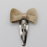 Haarspeldje nude velvet bow