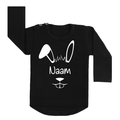 shirt easterbunny dude zwart