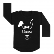 shirt easterbunny girly zwart