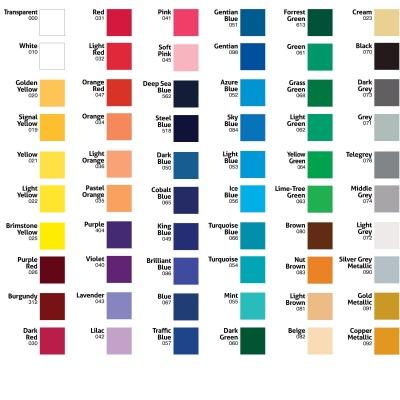 Kleur Muursticker