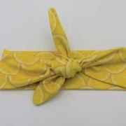 Wrap haarband lemon