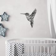 muursticker origami kolibrie