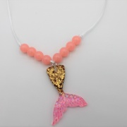 Kinderketting pink mermaid
