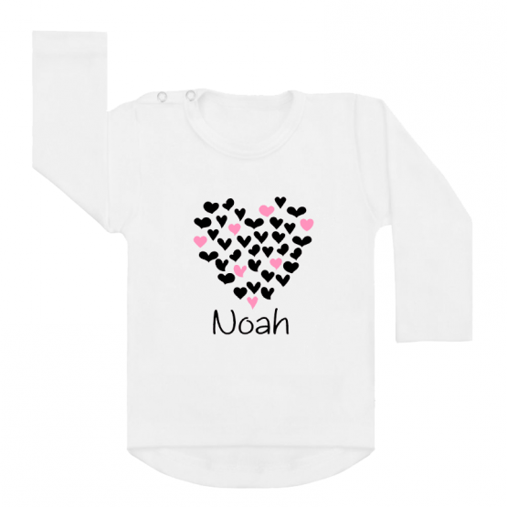 shirt wit hearts all over
