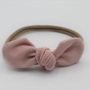 Haarband tricot babyroze strik