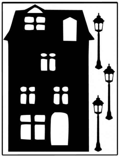 raamsticker huisje B