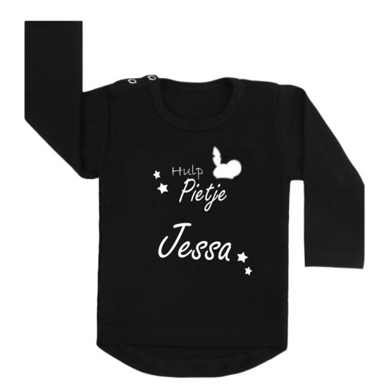Sinterklaas shirt zwart hulppietje