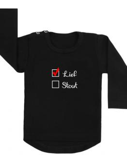 Shirt zwart lief stout