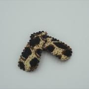 Baby haarspeldjes leopard