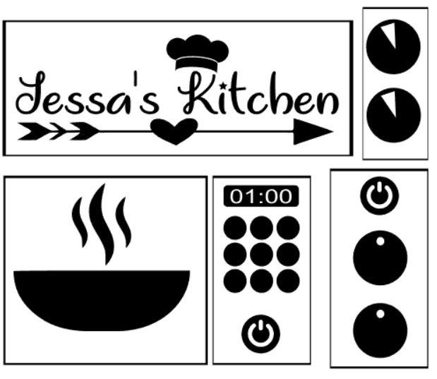Kinderkeuken Ikea Duktig Sticker Set Alle Knoppen En Kaststicker
